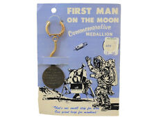 First Man On The Moon Commemorative Medallion On Card