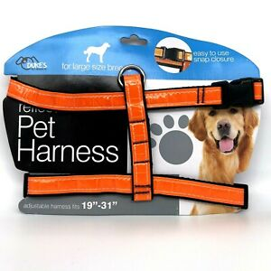 Dog Harness Reflective Adjustable Nylon Dog Puppy Blaze Orange Hunting - S M L