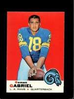 1969 TOPPS #125 ROMAN GABRIEL EXMT LA RAMS NICELY CENTERED *SBA2798