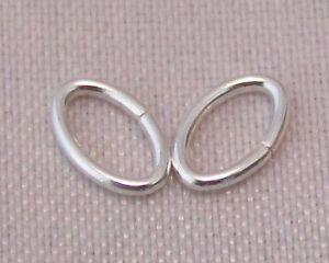 3.5x5.3 mm 925 Sterling Silver Oval Open Jump Rings Jewellery Making/Repair C7