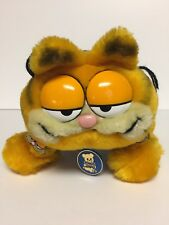"Garfield Cat Plush 10"" Pajamas My Favorite Slippers Dakin Stuffed Animal 1981"