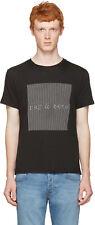 Rag & Bone New York Para hombre óptico logotipo Camiseta Camiseta Talla Grande BNWT RRP £ 70 Negro