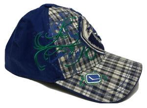 New 39 Thirty New Era NHL Vancouver Canucks Plaid Hat / Cap Size L XL