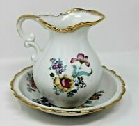 Royal Crown Hand Painted Pitcher and Bowl Set Made in Japan Numbered 44 / 108