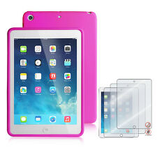 Apple iPad Mini 2 with Retina Display Silicone Back Case+3pcs Matte Screen Guard