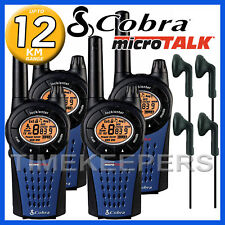 12 Km Cobra mt975 Walkie Talkie 2 dos manera PMR Radio Quad