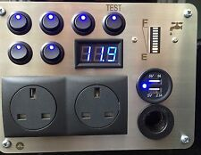 Autocaravana caravanas 12v/240v USB Panel de nivel de agua interruptor LED voltímetro