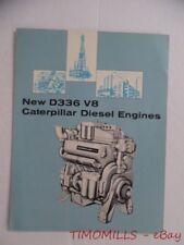c.1960 Caterpillar D336 V8 Diesel Engine Catalog Brochure Vintage Original VG