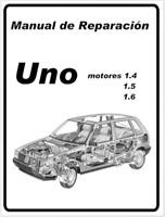 Manual de Reparación Fiat Uno 1.4 1.5 1.6. (En CD) Workshop Reparation.