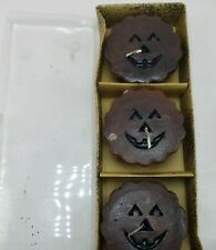 Set Of 3 Floating Candles Halloween Pumpkins The Salem Collection R22282