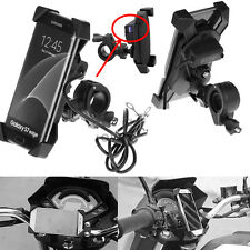 X-Grip Motorcycle Bike Handlebar Mount Cellphone Holder USB Charger For Phone