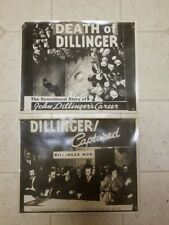 John Dillinger Original 1930's Movie Photo Advertisements