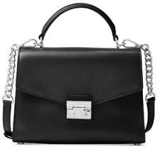Michael Kors Sloan Small Satchel Bag Purse Crossbody Leather Black $268 NWT