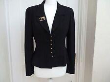 Chaqueta de Chanel en negro con botones de oro y negro 12x