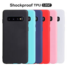 For Samsung S10 Plus S10e S9+ Ultra Slim Soft Silicone Matte TPU Back Case Cover