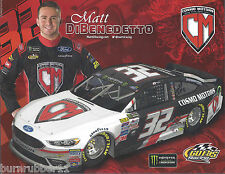 "2017 MATT DIBENEDETTO ""COSMO MOTORS"" #32 MONSTER ENERGY NASCAR POSTCARD"