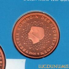 Pays Bas 2005 2 Centimes d'euro FDC BU Pièce neuve du coffret BU 50000 Exemplair