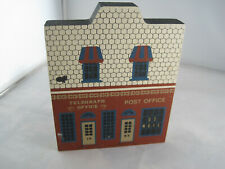 New ListingCats Meow Village Shelf Sitter - Post Office Telegraph -1987 Main Street Series