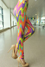 SPANDEX STRETCH CANDY COLOR TIE DYE LEGGINGS  LC79301