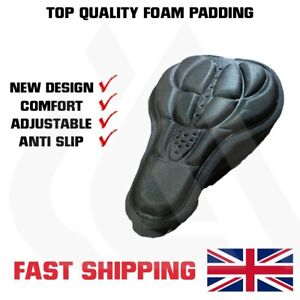 Bike Seat Cover For Cushion Comfort, Foam Bicycle Saddle, UK Stock