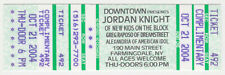 Unused concert ticket stub - Jordan Knight ( Nkotb ) - Farmingdale Ny 2004