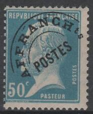"FRANCE STAMP TIMBRE PREOBLITERE 68 "" PASTEUR 50c BLEU "" NEUF xx TB  N229"