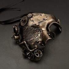 Steampunk Puzzle Gear Black Gold Phantom Style Mask
