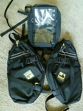 Wolfman Motorcycle Luggage:Tank Bag w/map pocket &2 E-12 Saddle Day Trippers NEW