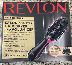 Revlon Pro Collection One-Step Hair Dryer And Volumizer Hot Air Brush, Black