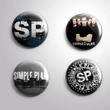Simple Plan Rock Band - 4 Pinbacks Badge Button 25mm 1''