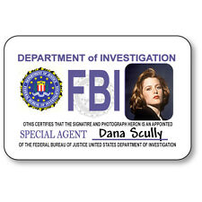 DANA SCULLY NAME BADGE HALLOWEEN COSTUME PROP FOR X FILES TV SHOW SAFETY PIN