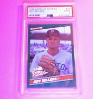 1986 Donruss Rookies #29 Jeff Sellers RC Graded PSA 9 MINT Rookie SET BREAK