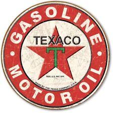"Over Sized Premium Metal Sign Embossed Uv Protected Texaco 1926 Logo 23""X23""X.25"