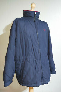 Fred Perry Sportswear Diamond Stitch Quilted Jacket Mens XL Blue Fleece
