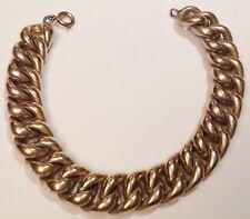 bracelet vintage couleur or rhodié maille gourmette style américaine 174