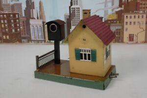 Vintage Prewar Marklin O & 1 Gauge 13761 Crossing Keeper's House /Buzzer & Light