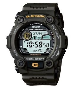 Casio G-Shock Digital Mens Green Moon Tide Graph Watch G7900-3 G-7900-3