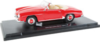 "1:18 WELLY Model Car ""Mercedes-Benz 190 SL"" 1955 Red Colour Metal Age 8+"