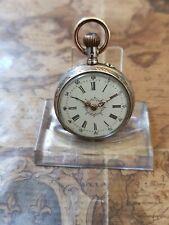 alte 800 Silber Leon Grumbach Biel Taschenuhr mit 8 Rubine Uhrwerk (16)
