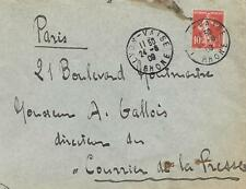FRANCE 1909 COVER WITH 10c RED      MY REF  173