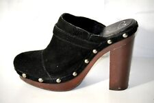Jessica Simpson Caral Black Clogs Leather Studded Platform Mule Shoes Size 7