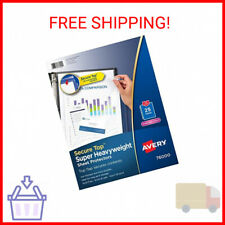 Avery Diamond Clear Secure Top Sheet Protectors Super Heavyweight 25 Page