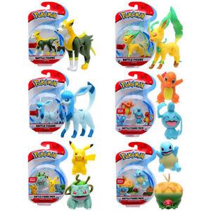 Pokemon Battle Figuren - 6 Varianten - u.a Pikachu/Bisasam/Shiggy/Glaziola - NEU