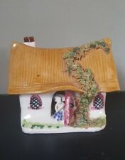 Studio Pottery Miniature Hand Painted Mouse Cottage