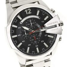 DIESEL DZ4308 Mega Chief Men's Black Dial Stainless Steel Chronograph Band Watch