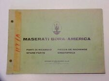 Maserati Bora Spare Parts Manual Book US Supplement Booklet OEM