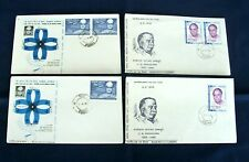 Four India FDC 'Personalities' Stamps Series 1969/70 - Poona Postmarks