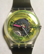 1985 GK101 Swatch Watch Technosphere New Unused In Box Running