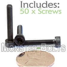 (50) M3 x 20mm - Socket Head Caps Screws 12.9 Alloy Steel DIN 912 Coarse 0.5 3mm