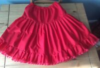 Rockabilly swing and jive red cotton petticoat
